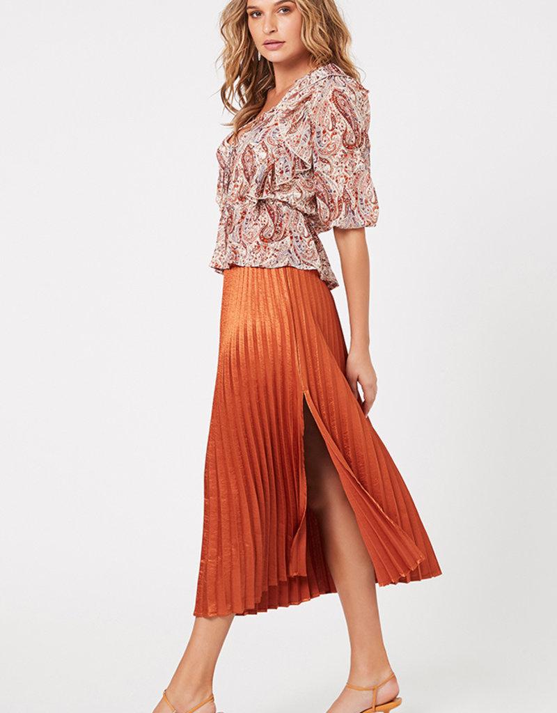 Minkpink After Glow Pleat Skirt