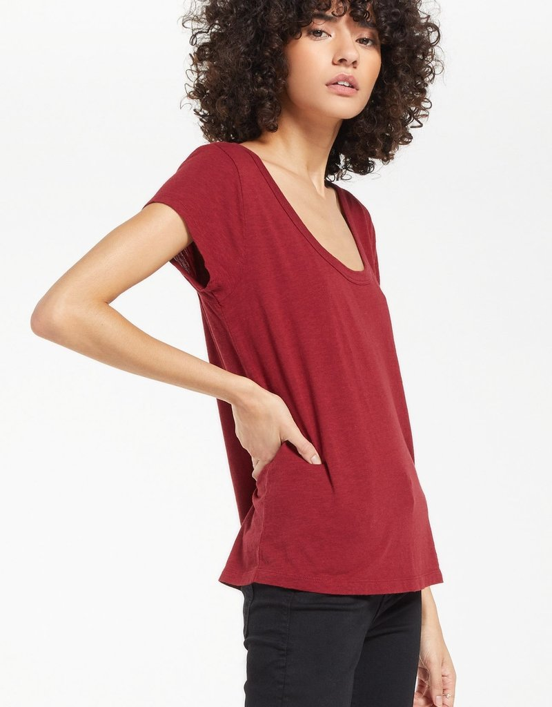 Z Supply Jane Brushed Slub Tee