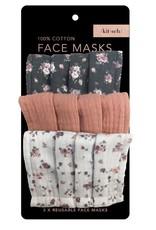 Kitsch Cotton Face Mask 3pc Set - Vintage Floral