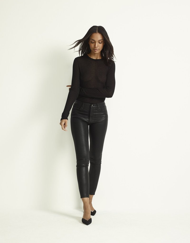 Joe's Jeans Charlie Ankle High Rise - Black Coated