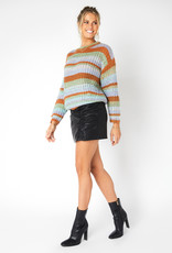 Minkpink Carol Stripe Knit Sweater
