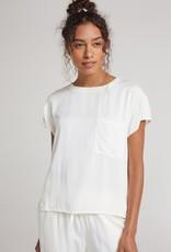 Bella Dahl Short Sleeve Pocket Tee - White