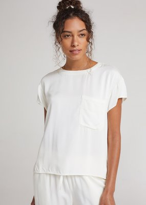 Bella Dahl Short Sleeve Pocket Tee - White
