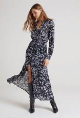 Bella Dahl Maxi Ruffle Hem Shirt Dress