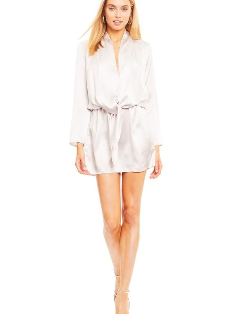 Amanda Uprichard Laurie Silk Mini Dress