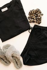 Bella Dahl Short Sleeve Pocket Tee - Black
