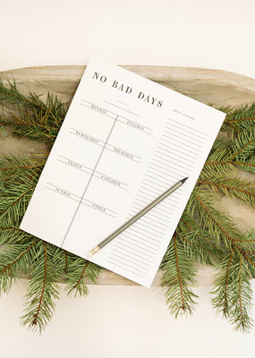 LABEL 'No Bad Days' Weekly Planner