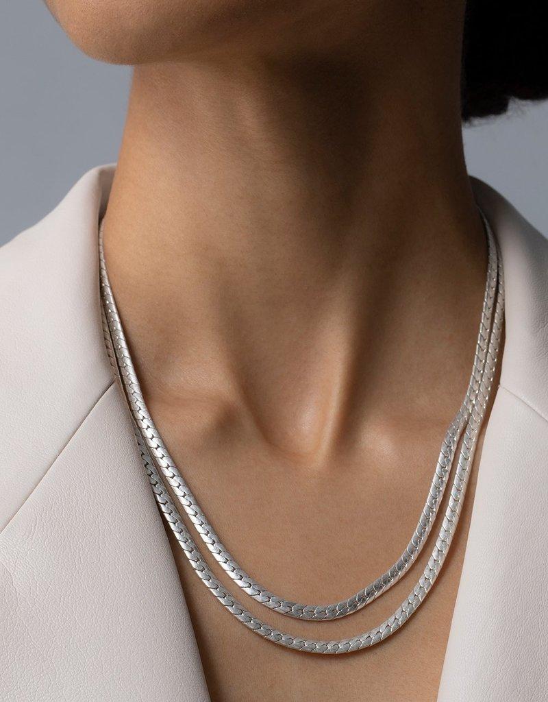 Jenny Bird Priya Double Strand Necklace - Silver