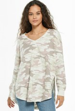 Z Supply Dusty Camo V-Neck Weekender - Mauve