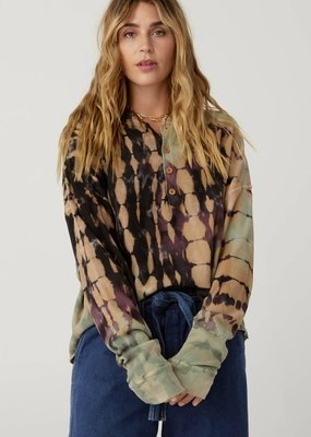 Daydreamer Tie Dye Thermal Henley