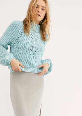 Free People Sweetheart Sweater - Ocean Pearl
