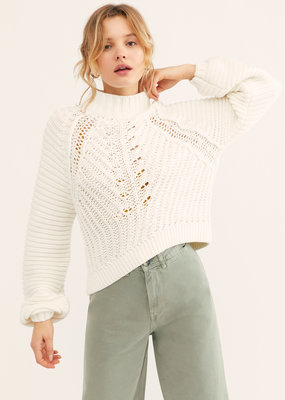 Free People Sweetheart Sweater - Ivory