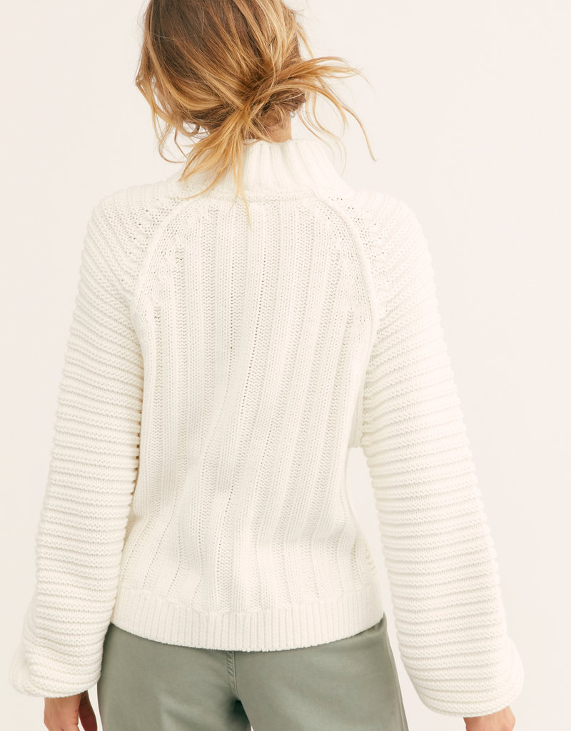 Free People Sweetheart Sweater - Ivory