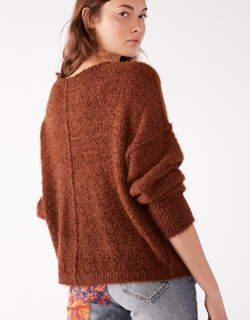 Free People  Icing V Neck Pullover