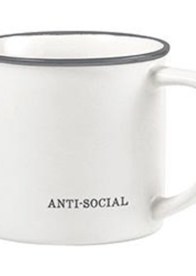 LABEL Anti- Social Coffee Mug