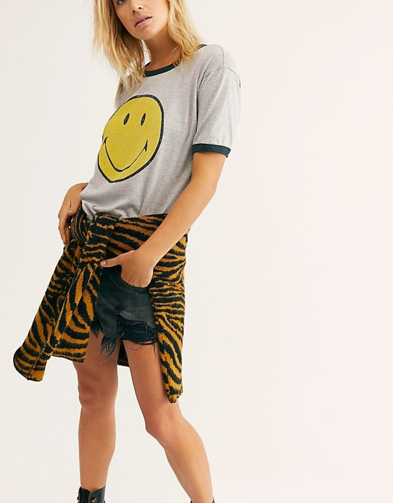 Daydreamer Classic Smiley Ringer Tee