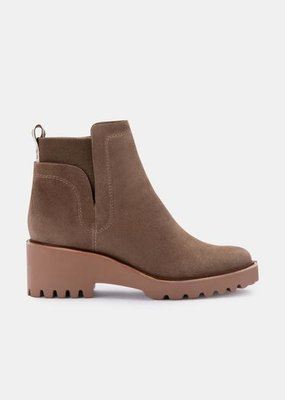 Dolce Vita Huey Booties - Olive Suede