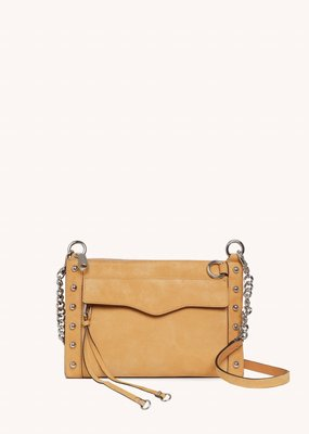Rebecca Minkoff M.A.B. Crossbody Bag with Studs - Honey