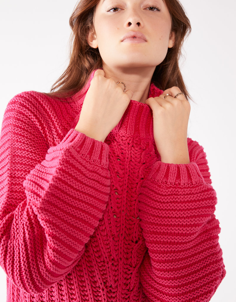 Free People Sweetheart Sweater - Candy Blossom