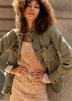Free People Harley Military Shirt Jacket
