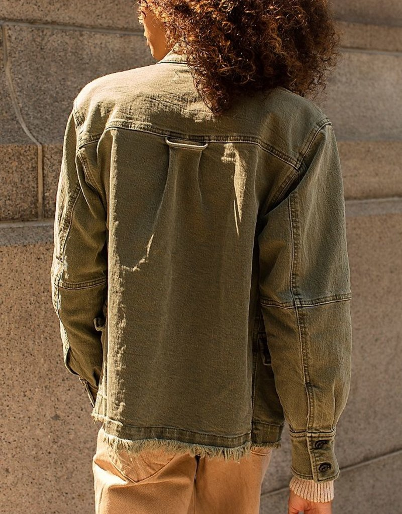 Free People Harley Military Shirt Jacket