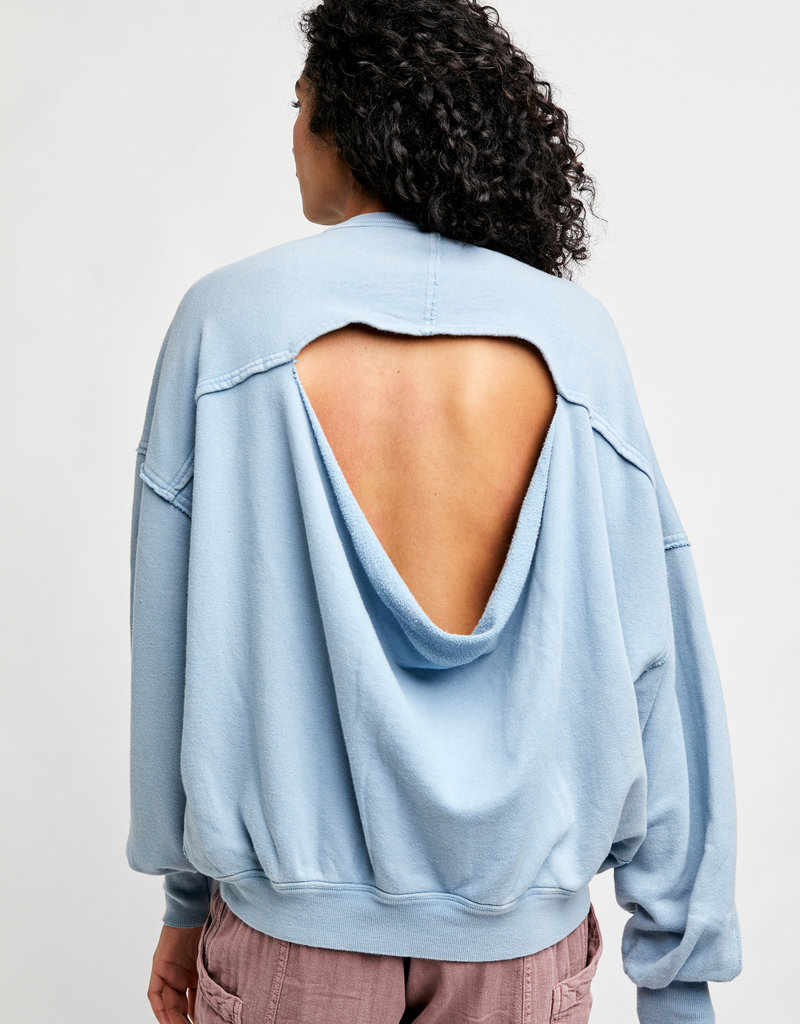 Free People Easy Does It Pullover - Bottled Blue