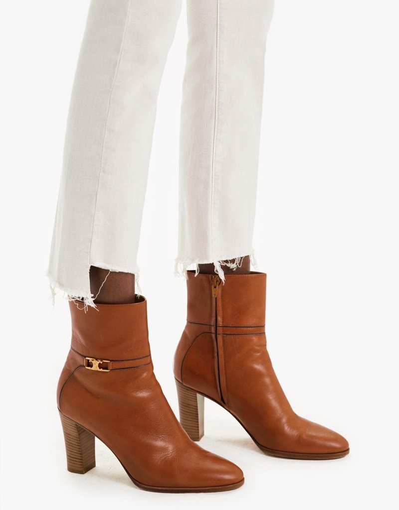 Mother The Insider Crop Step Fray - Toasted Ivory