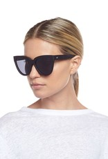 Le Specs Liar Lair Polarized Sunglasses - Black Rubber