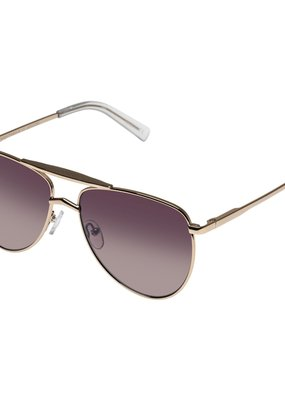 Le Specs High Fangle Sunglasses - Gold