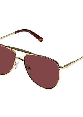 Le Specs High Fangle Sunglasses - Bright Gold