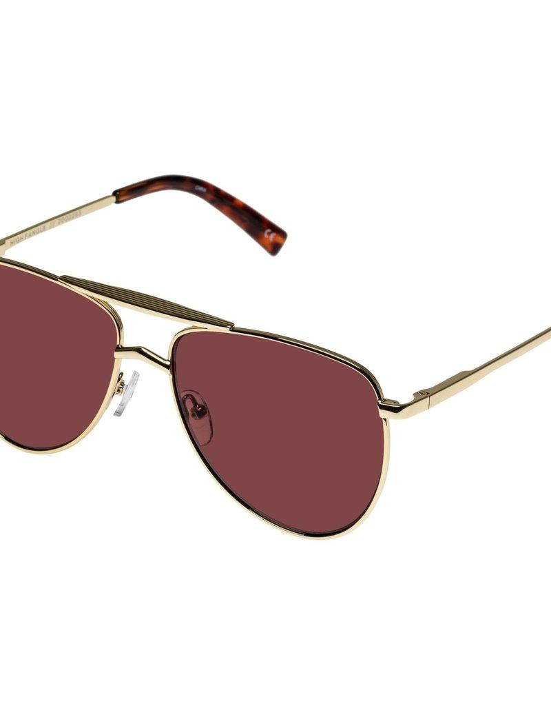 Le Specs High Fangle Sunglasses - Bright Gold