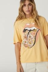 Daydreamer Rolling Stones Flower Tongue Boyfriend Tee