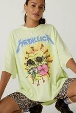 Daydreamer Metallica Flower Skull One Size  Tee