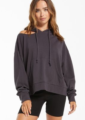 Z Supply Jerri Cut-Out Sweatshirt - Washed Black