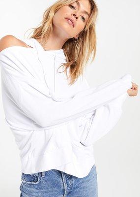 Z Supply Jerri Cut-Out Terry Sweatshirt - White