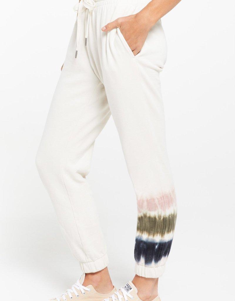 Z Supply Selene Stripe Tie-Dye Fleece Jogger