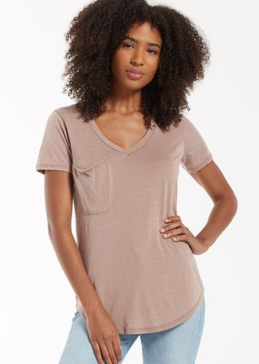 Z Supply Pocket Tee - Taupe Grey