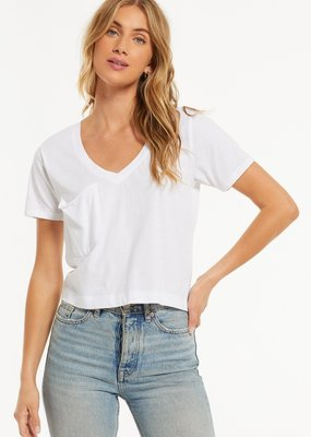 Z Supply Classic Skimmer Crop Tee - White
