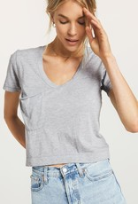 Z Supply Classic Skimmer Crop Tee - Heather Grey