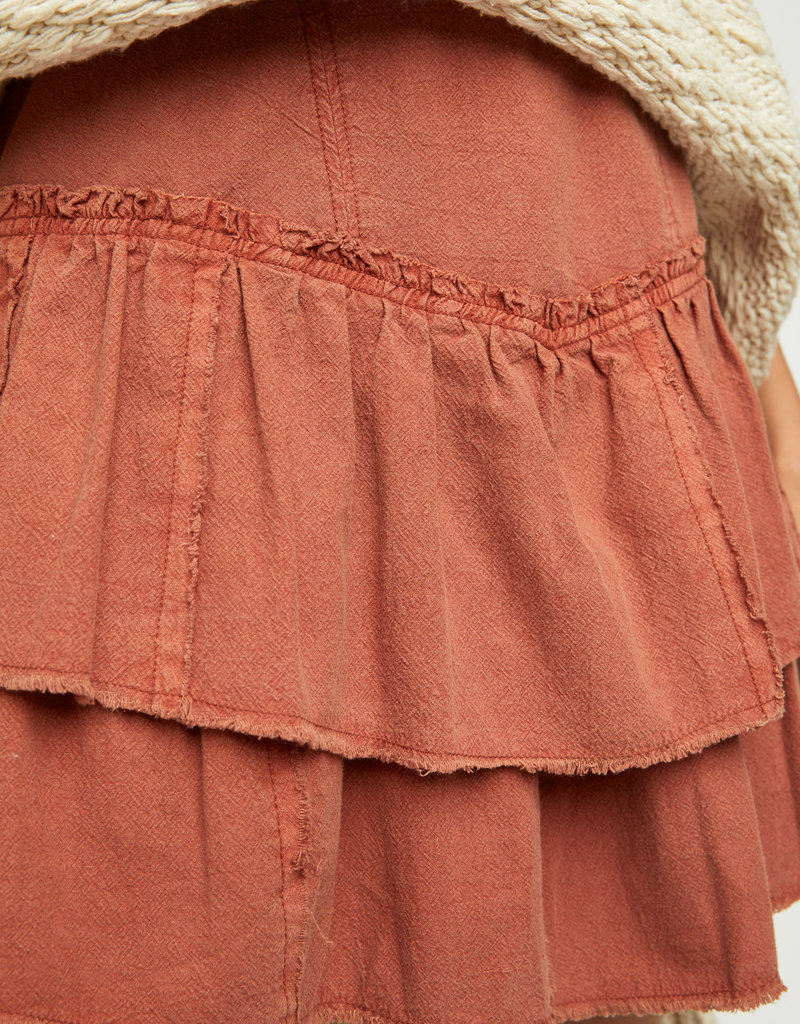 Free People Ruffles in the Sand Skirt
