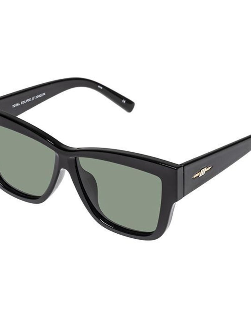 Le Specs Total Eclipse Sunglasses - Black Polarized