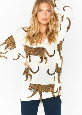 Show Me Your Mumu Hug Me Sweater - Leopard