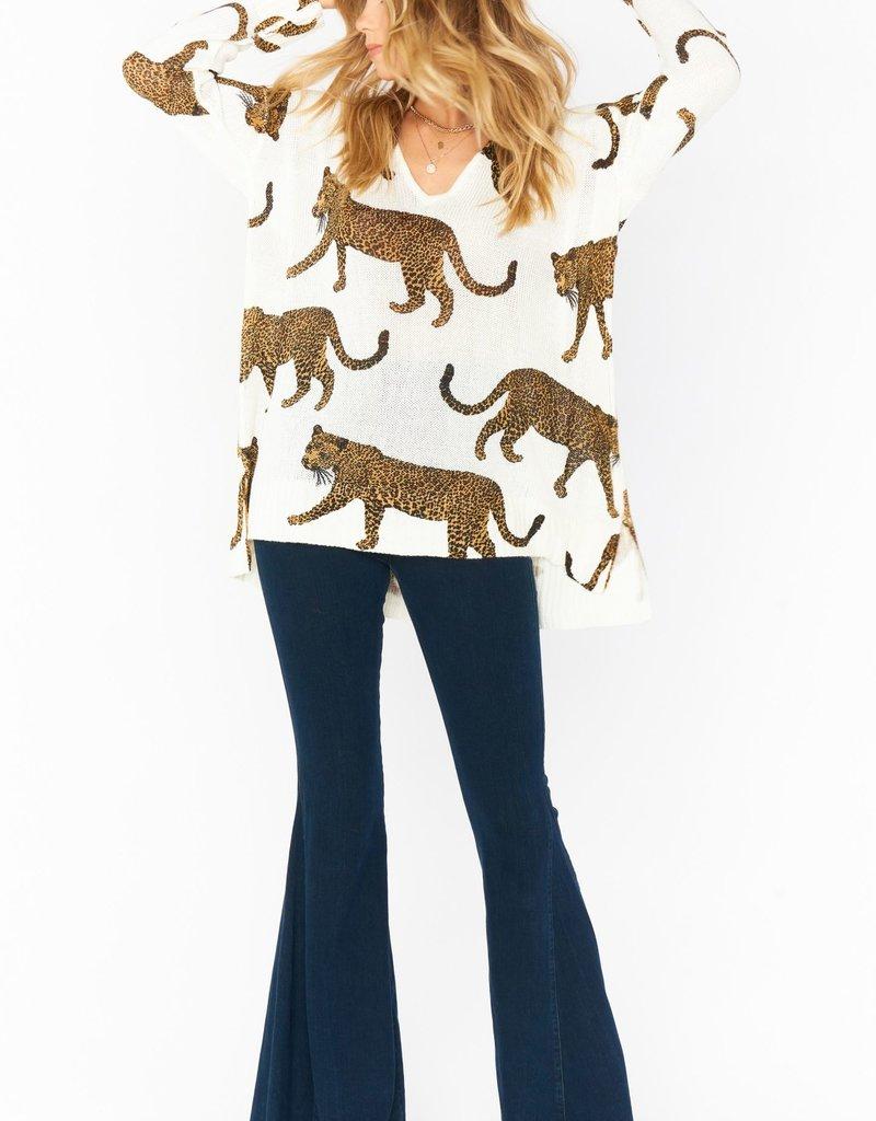 Show Me Your Mumu Hug Me Sweater - Leopard