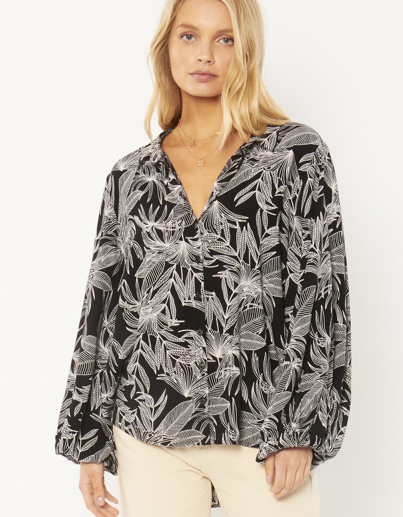 Amuse Society Seagrass Woven Top