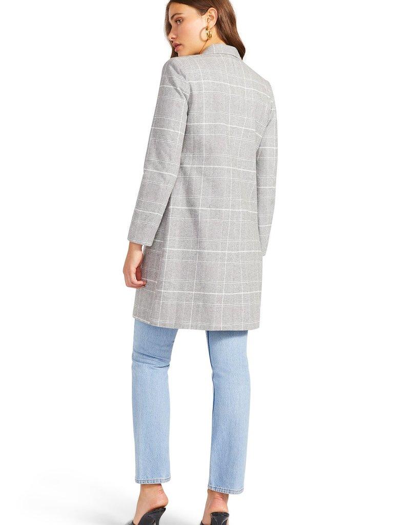 BB Dakota Plaid To Do It Blazer Coat