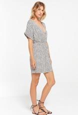Z Supply Torre Mini Leopard Wrap Dress