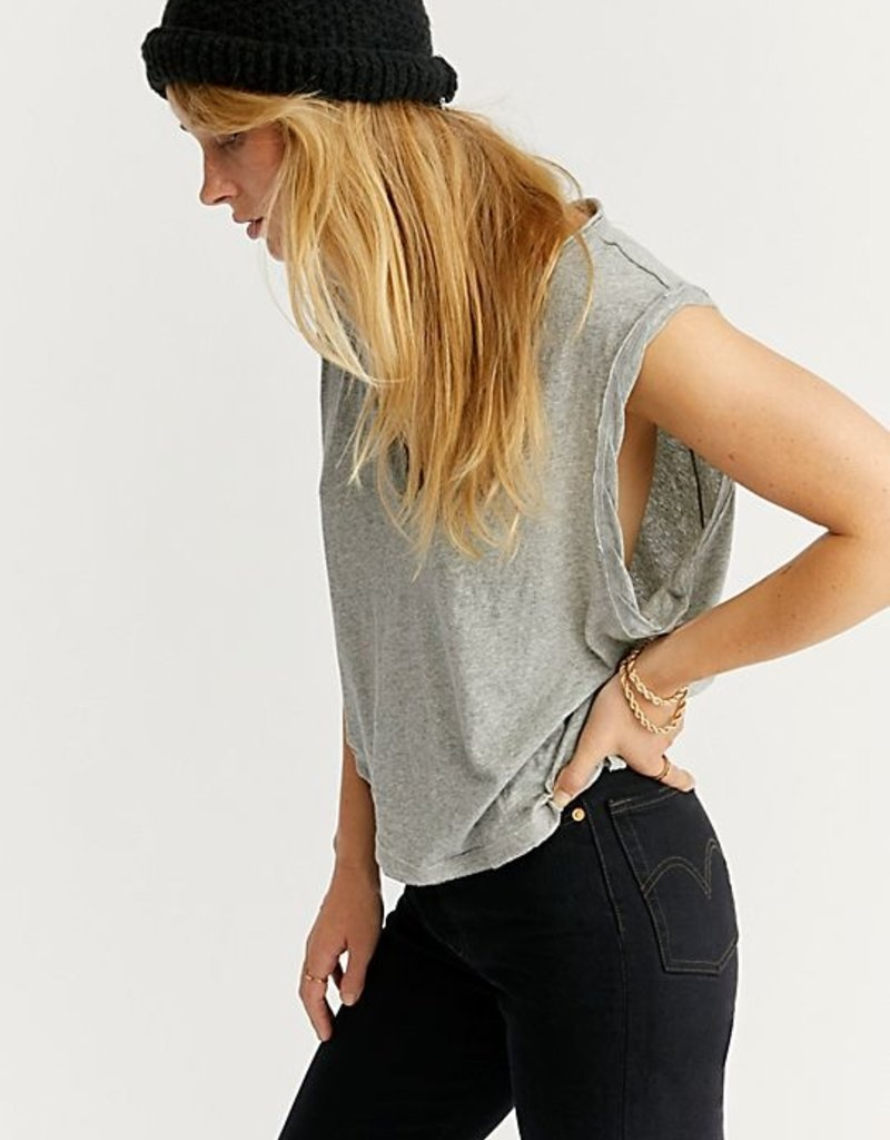 Free People We The Free Dreamy Muscle Tank - Heather Grey