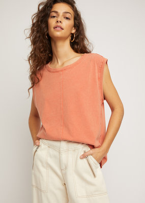 Free People Kasee Muscle Tee - Baked Earth