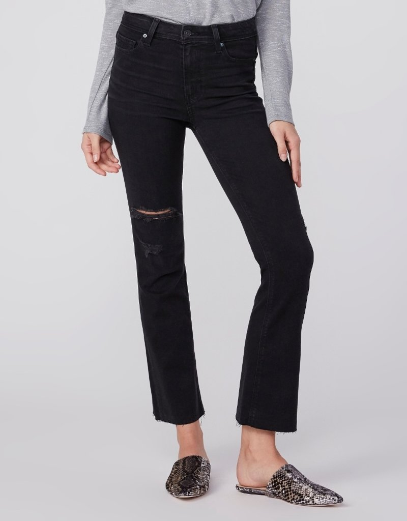 Paige Claudine High Rise Ankle Flare- Slater Destructed