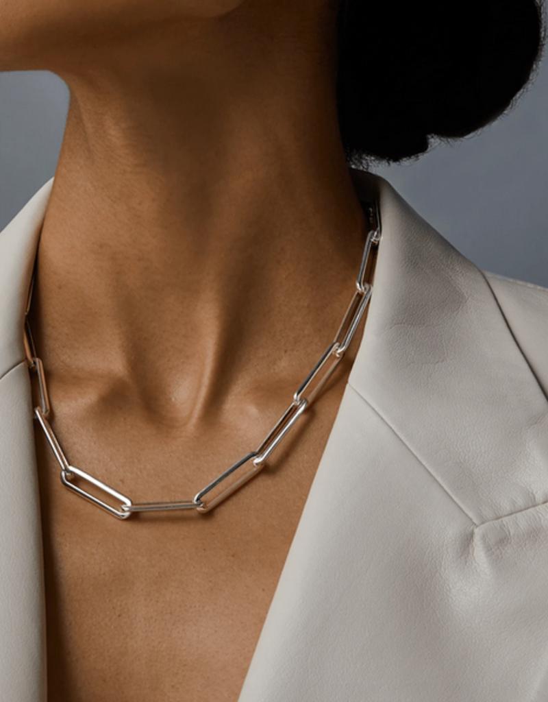 Jenny Bird Stevie Chain Necklace - Silver
